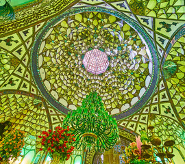 The dome of Shafti Mausoleum, Isfahan, Iran