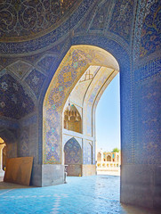 The arch of Seyed Mosque, Isfahan, Iran