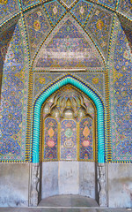 Ceramic tile in Seyed Mosque, Isfahan, Iran