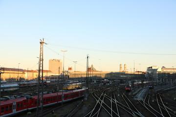 Deurstickers Treinstation Munich moments