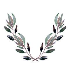 elegant floral laurel