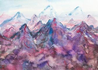 montagna acquerello