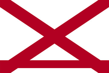 Alabama State Flag Vector