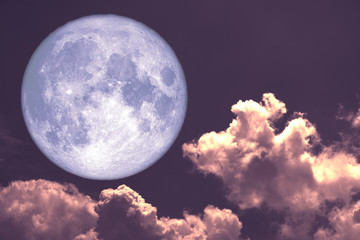 worm moon back on silhouette heap cloud on sunset sky