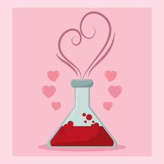 Flask with love formule concept
