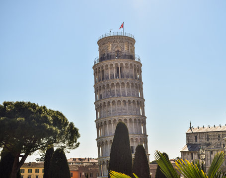 Pisa tower from a different point of view