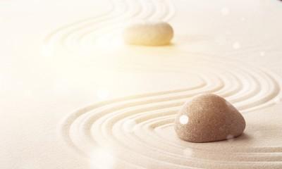 Photo sur Plexiglas Zen pierres a sable Zen stones in the sand