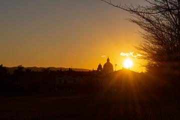 Assisi, tramonto