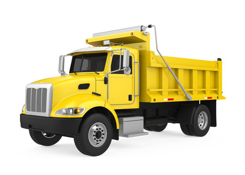 Tipper Dump Truck Isolated