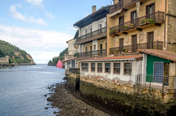 Coast of San Sebastian in a cloudy day. It´s a editorial picture