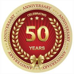 Anniversary 50 years , birthday, holiday, celebration, greeting card