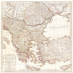 1794, Laurie and Whittle Map of Greece, Turkey andamp, the Balkans