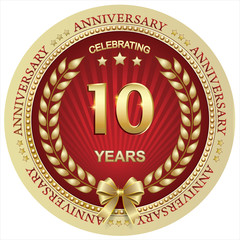 Anniversary 10 years , birthday, holiday, celebration, greeting card