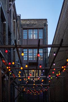 London restaurant lights