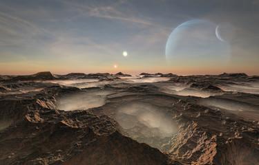 Foto auf Acrylglas Schokobraun Distant alien planet