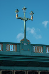 Lantern on Southwark Bridge in London