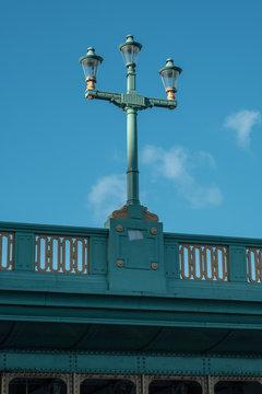 Lantern on Southwark Bridge in London