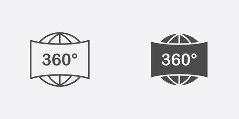 360 picture vector icon sign symbol