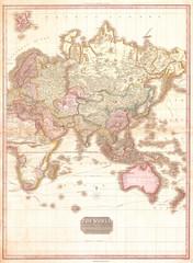 1818, Pinkerton Map of the Eastern Hemisphere, Asia , Africa , Europe , Australia, John Pinkerton, 1758 – 1826, Scottish antiquarian, cartographer, UK