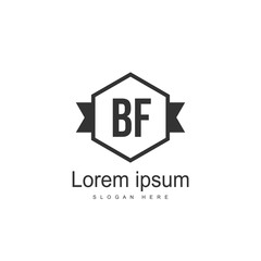 Initial BF Letter Logo Template Design