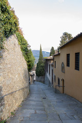 A way down from Fiesole, Tuscany, Italy.