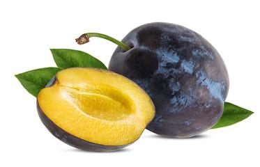 Fototapete - plum on a white background