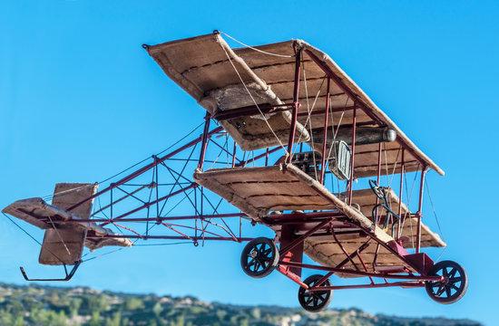Vintage Bi-Plane Model airplane