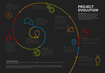 Colorful Spiral Timeline Infographic Layout