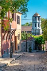 amazing street in Plovdiv city in Bulgaria