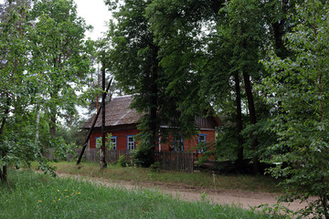 country house in the forest