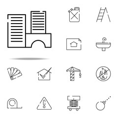 buildings, houses icon. construction icons universal set for web and mobile