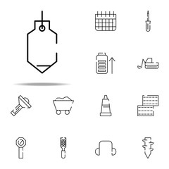 sinker icon. construction icons universal set for web and mobile