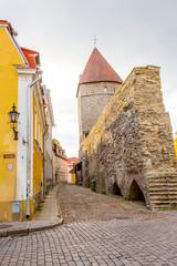 Europe, Eastern Europe, Baltic States, Estonia, Tallinn. Old town, city walls.