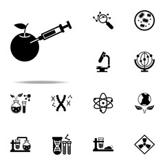 food, gmo icon. Genetics and bioenginnering icons universal set for web and mobile