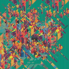 abstract geometric colorful background. Illustration For Cover Of Vinyl.