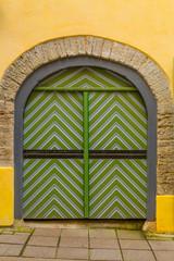 Europe, Eastern Europe, Baltic States, Estonia, Tallinn. Old town, door.
