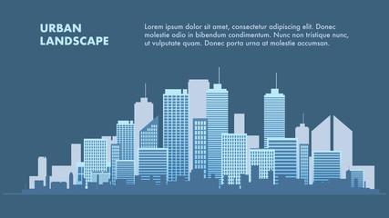 Banner Illustration Urban Landscape Metropolis