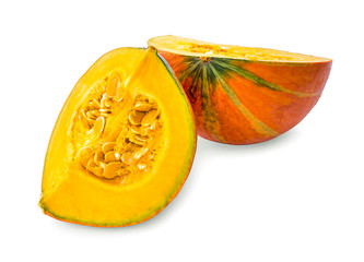 Japanese pumpkin isolated on white background