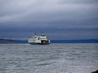 ferry in sea