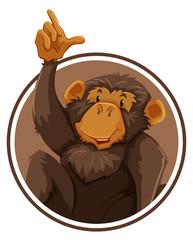 Ape in circle banner