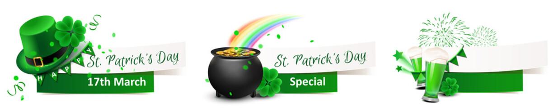 Fototapeta St. Patrick's Day - Banner Set  obraz