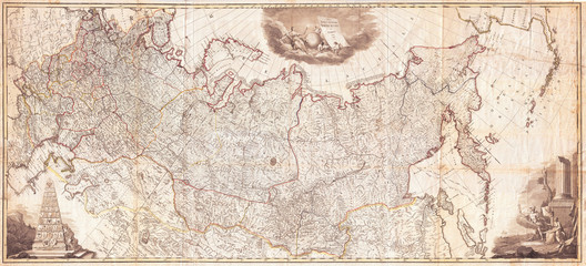 1787, Wall Map of the Russian Empire