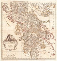 1794, Anville Map of Ancient Greece