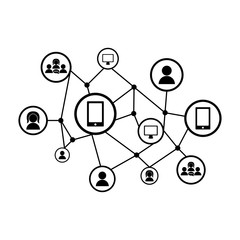 Isolated social network icon. Vector illustration design