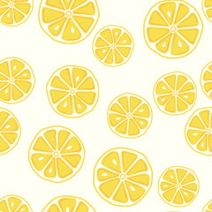 Fresh and yummy yellow lemon seamless pattern