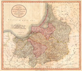 1799, Cary Map of Prussia and Lithuania, John Cary, 1754 – 1835, was an English cartographer, John Cary, 1754 – 1835, English cartographer