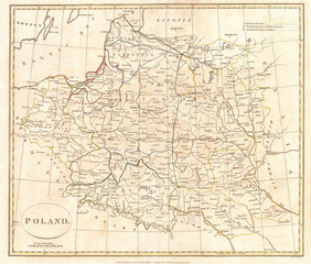 1799, Clement Cruttwell Map of Poland and Lithuania