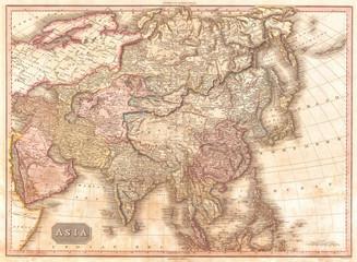 1818, Pinkerton Map of Asia, John Pinkerton, 1758 – 1826, Scottish antiquarian, cartographer, UK