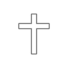 cross of the cross icon. Element of cyber security for mobile concept and web apps icon. Thin line icon for website design and development, app development