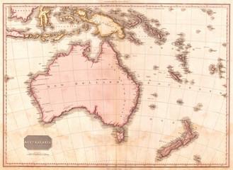 1818, Pinkerton Map of Australia and New Zealand, John Pinkerton, 1758 – 1826, Scottish antiquarian, cartographer, UK